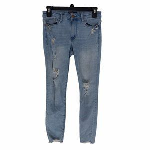 Abercrombie & Fitch Womens Harper Ankle Blue Jeans